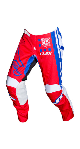 JT RACING USA-2018 Flex ExBox Pants, Red/Blue/White