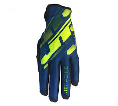 JT Racing USA-Pro-Fit Tracker, Glove, Navy/Yellow