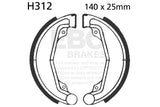 EBC Brake Shoe Set Front & Rear Honda CR250 '73-'76  #H312