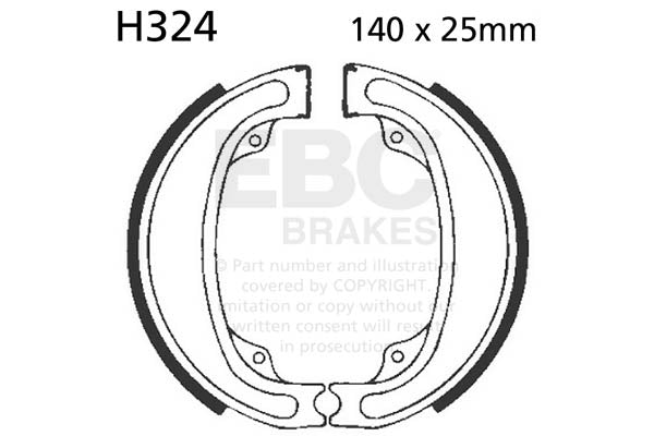 EBC Brake Shoe Set Front '79-'81 CR125, '79-'80 CR250, '79-'80 XR500 #H324