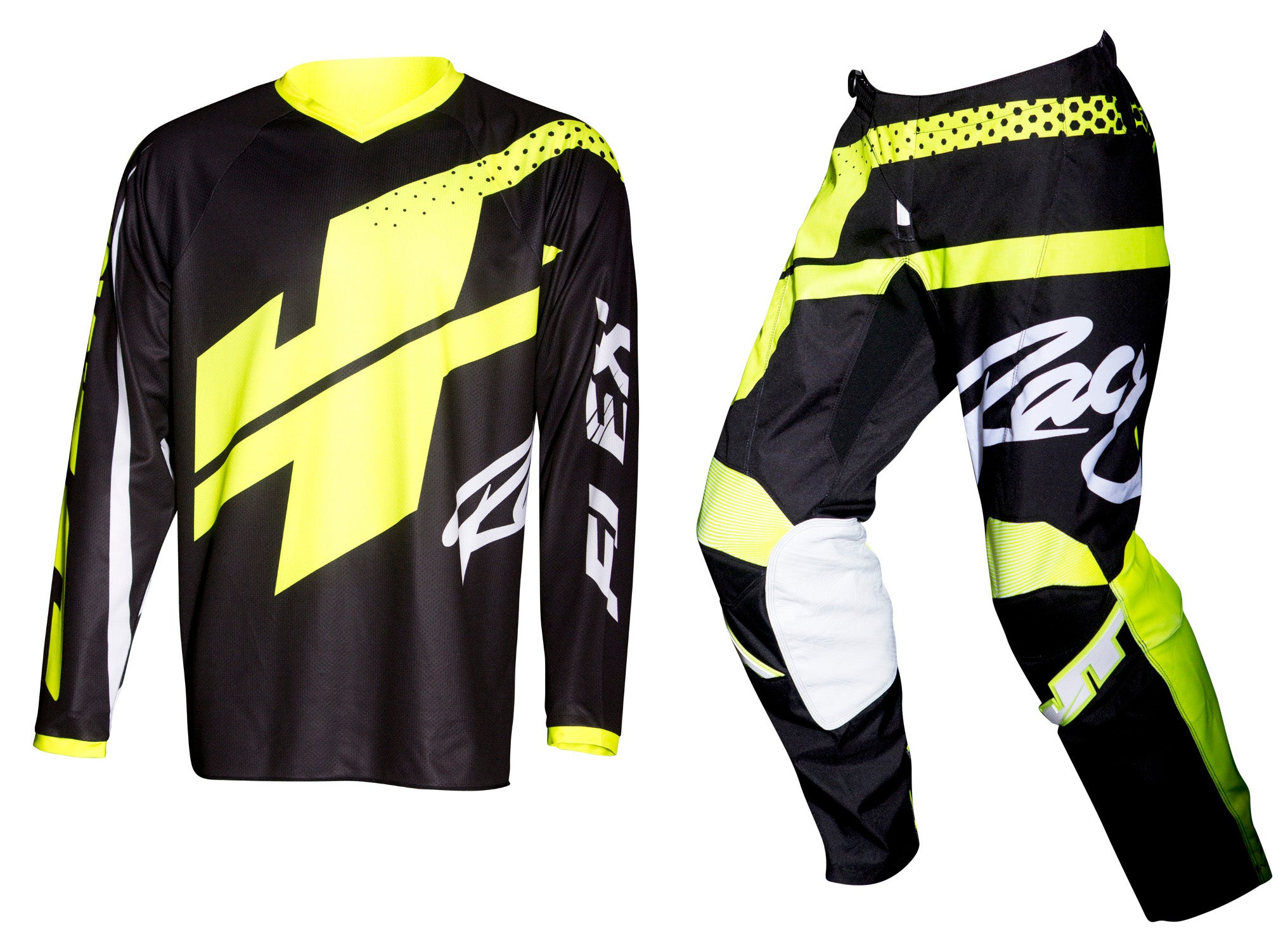 JT RACING USA-Flex Hi-Lo Jersey, Black/Neon Yellow