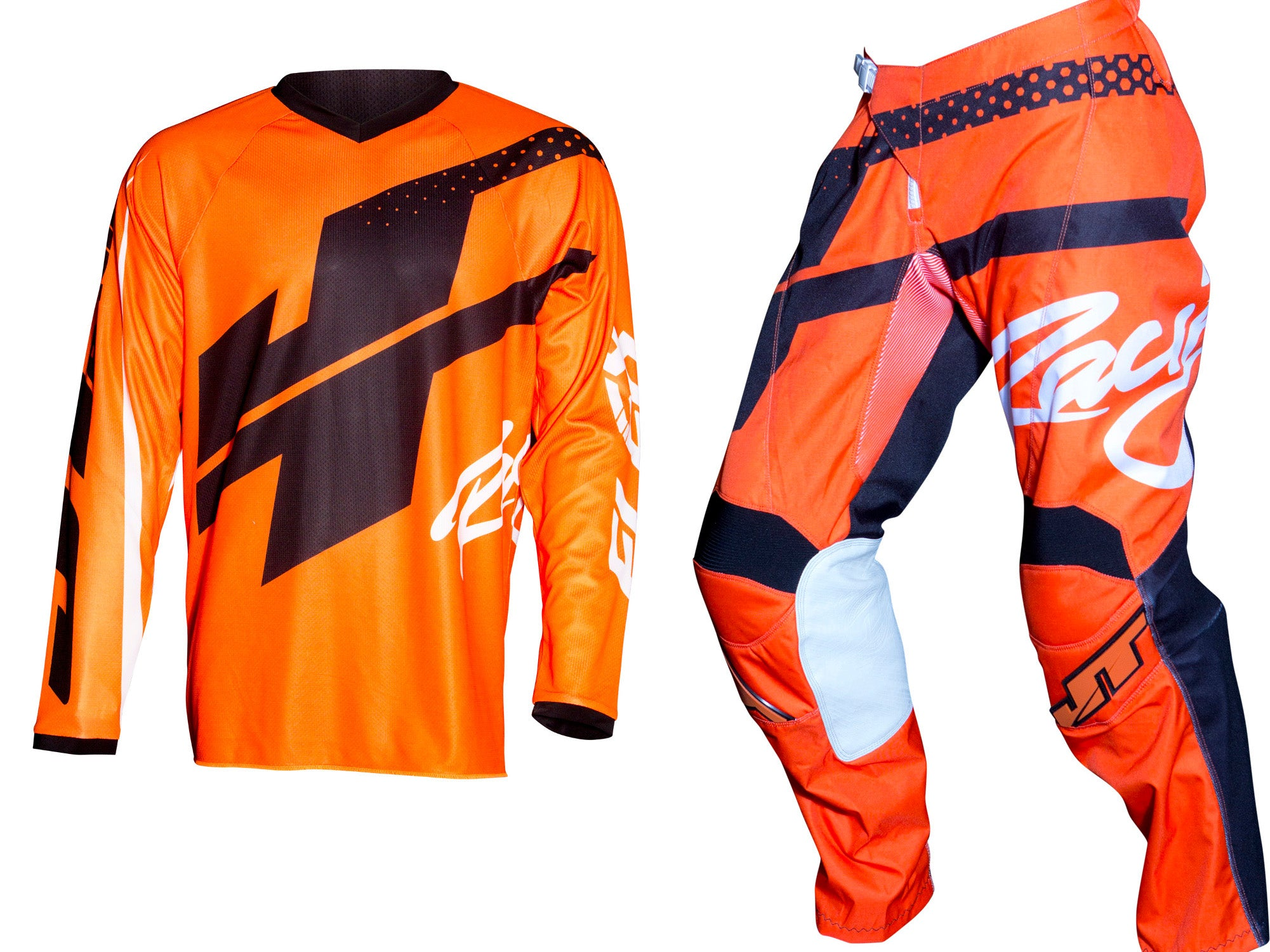 JT RACING USA-Flex Hi-Lo Jersey, Fluro Orange/Black