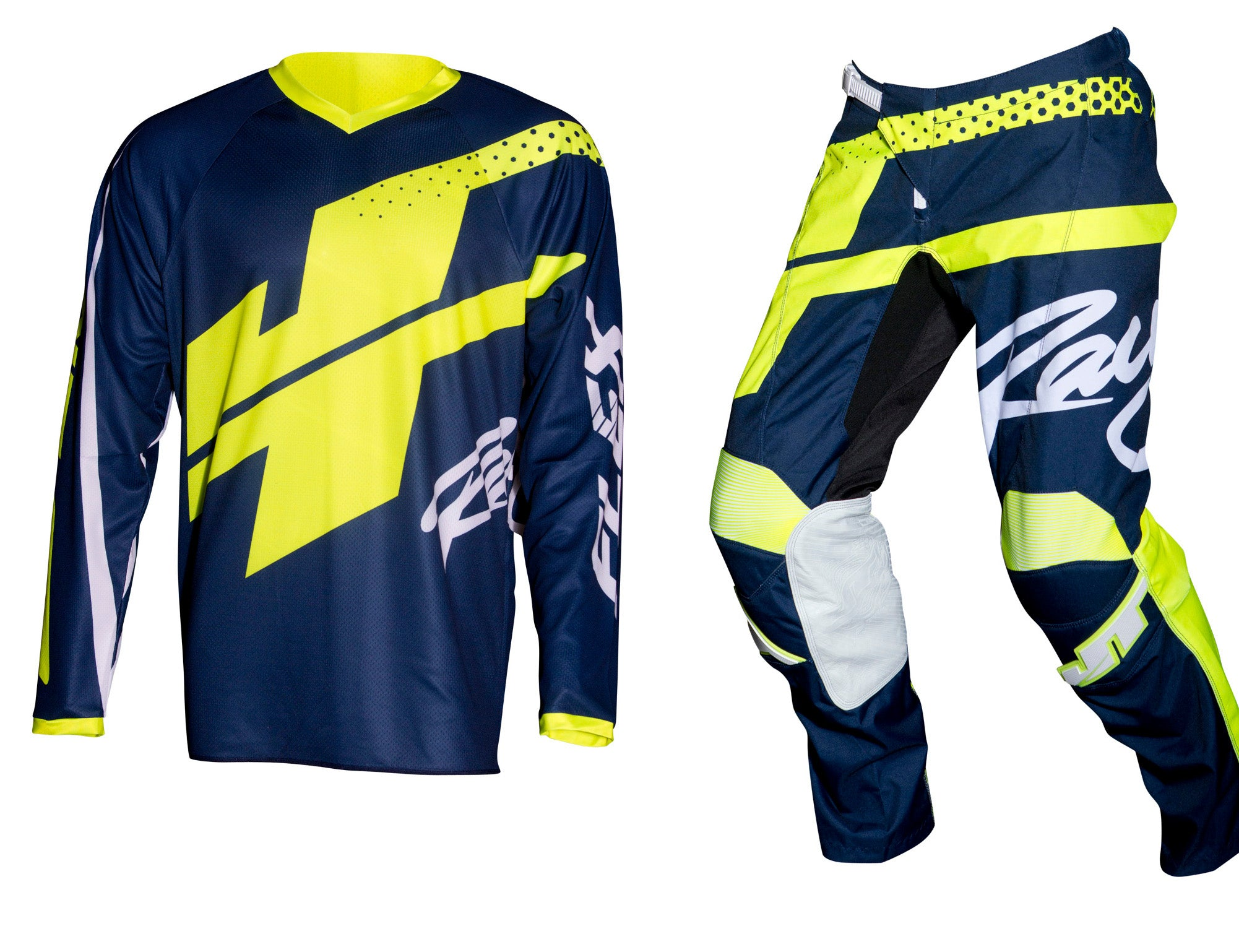 JT RACING USA-Flex-ExBox Jersey, Navy/Neon Yellow