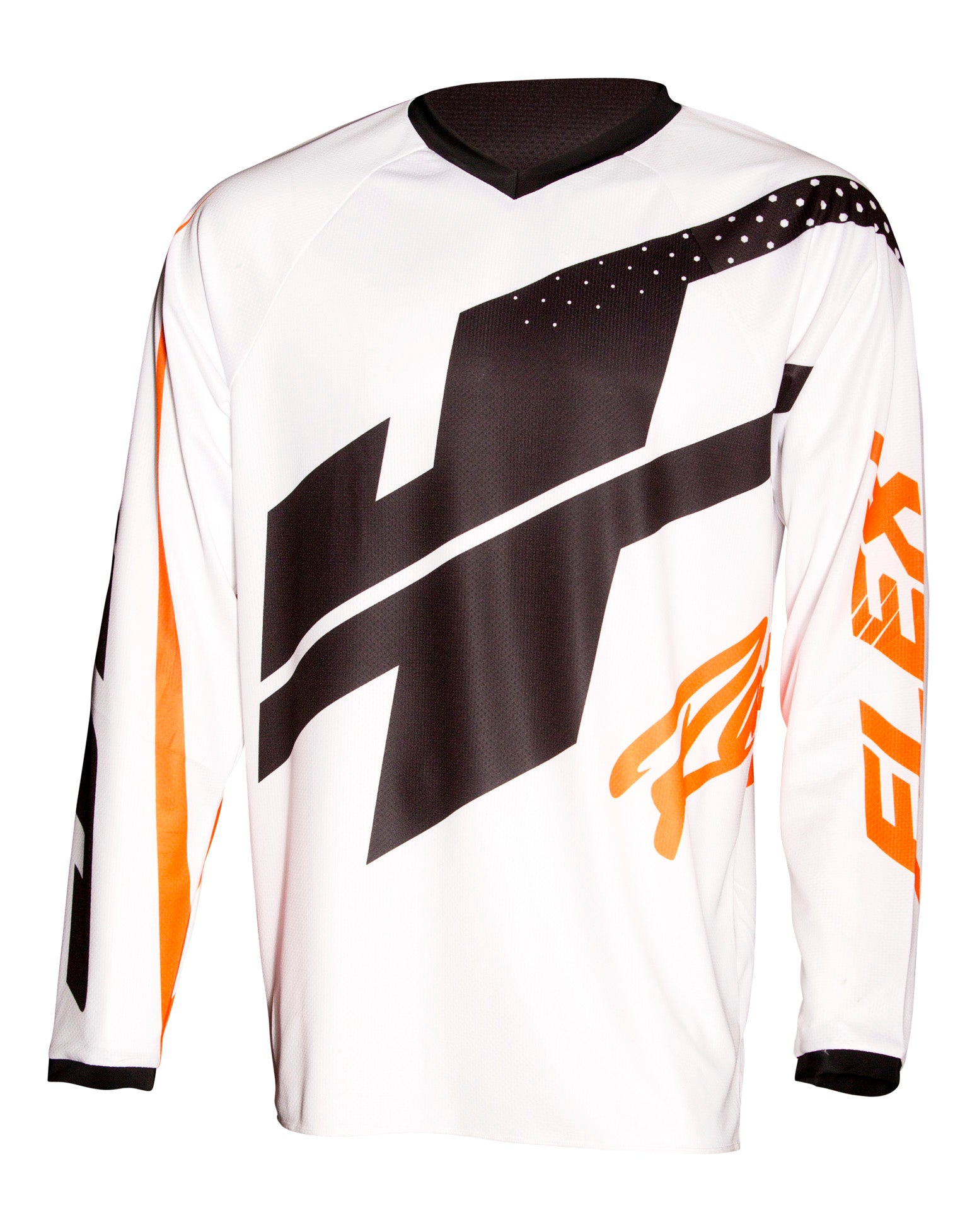 JT RACING USA-Flex Hi-Lo Jersey, White/Orange/Black