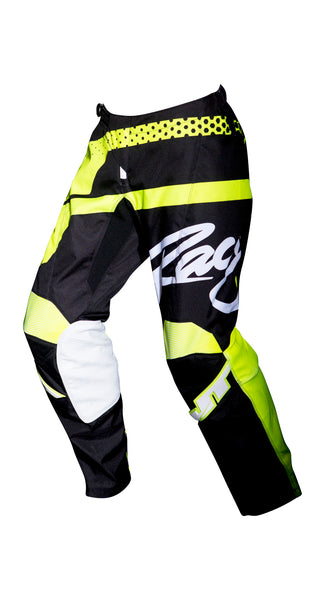 JT RACING USA-2018 Flex Hi-Lo Pants, Black/Neon Yellow