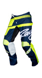 JT RACING USA Flex Hi-Lo Pants, Navy/Neon Yellow