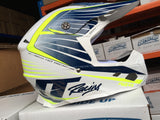 JT RACING USA- ALS 2.0 Helmet, Navy/White/Neon Yellow