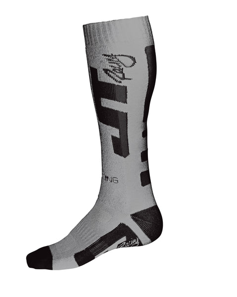JT Racing-MX CoolMax Socks, Grey/Black