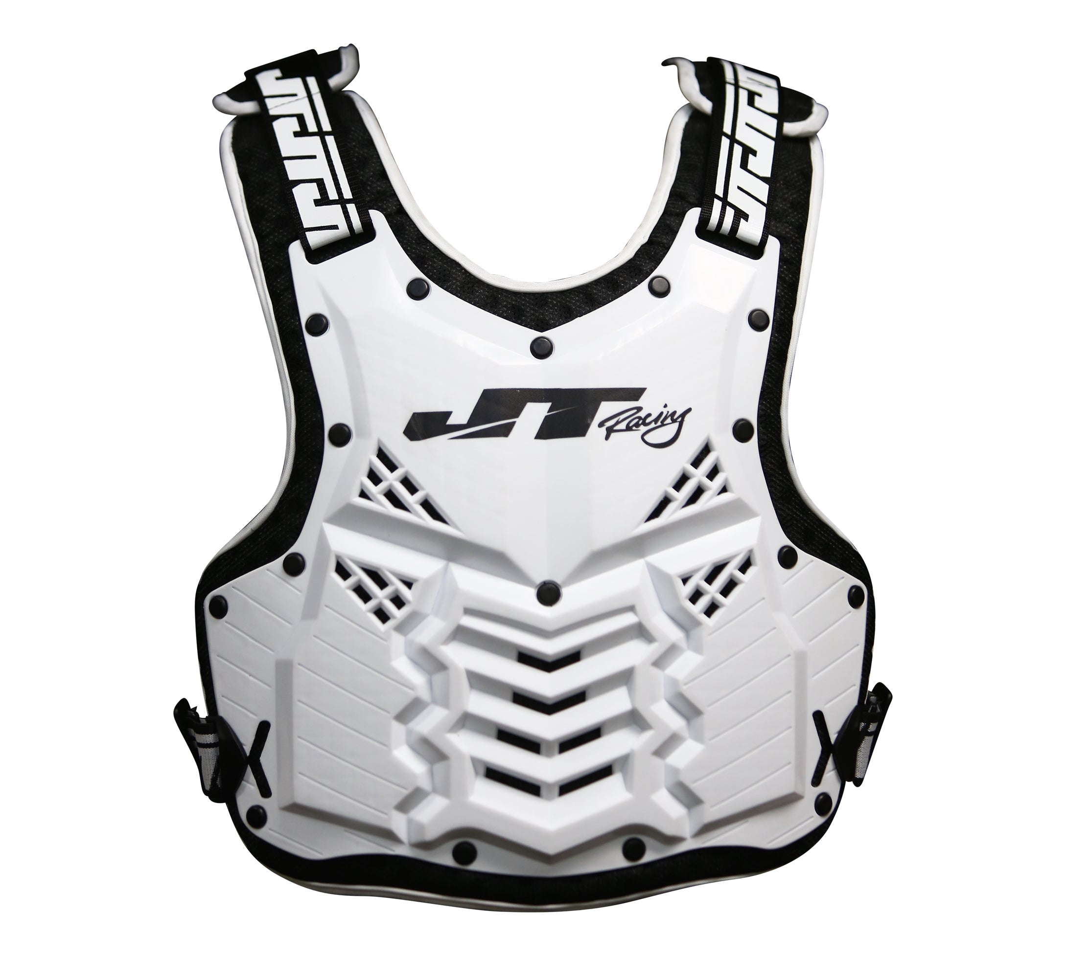 JT Racing-V2K Chest & Back Protector, Black/White