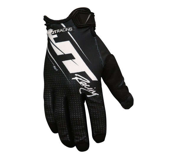 JT Racing USA-Lite Slasher Glove, Black/White