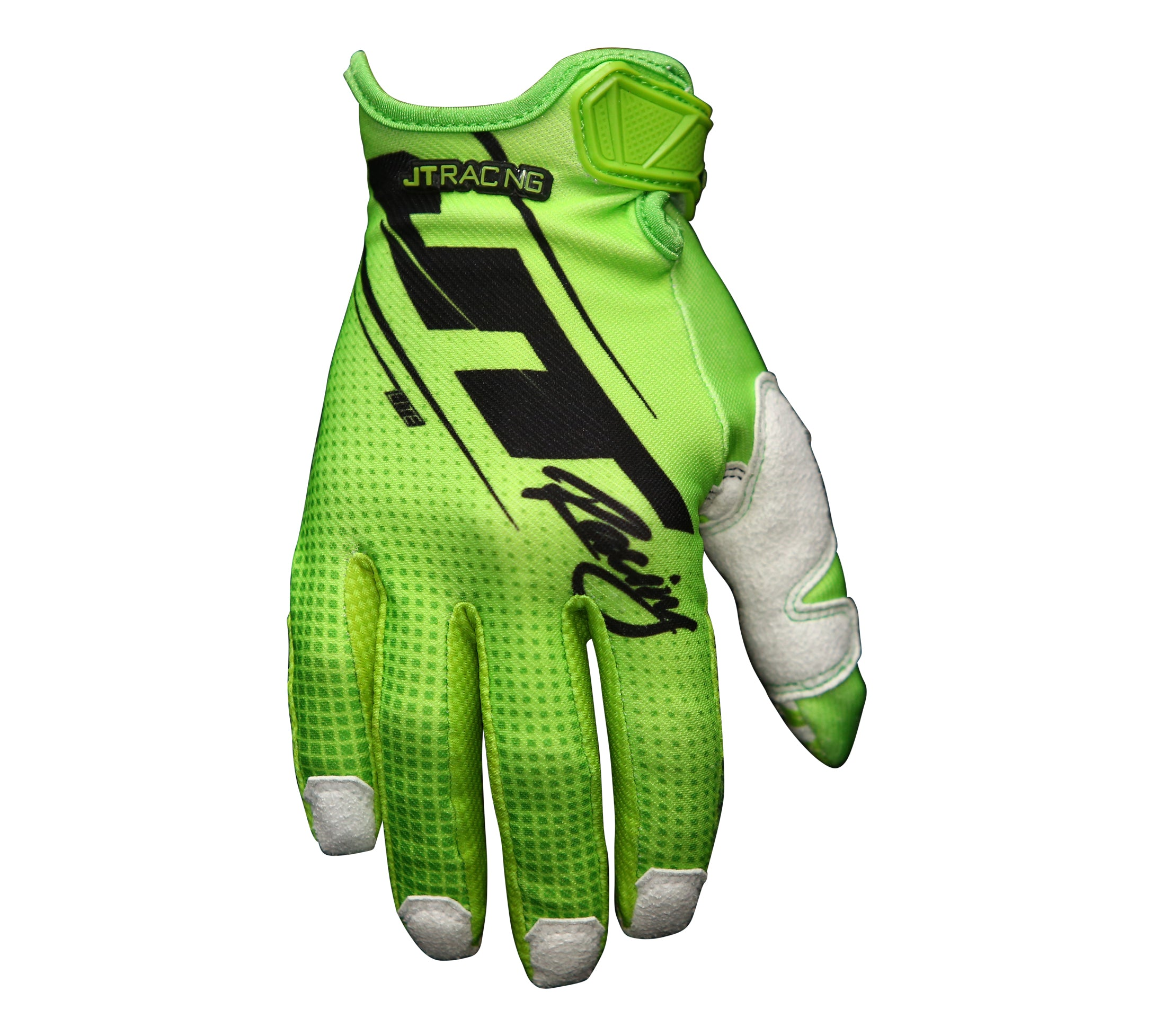 JT Racing USA-Lite16- Slasher Gloves, Fluro Green