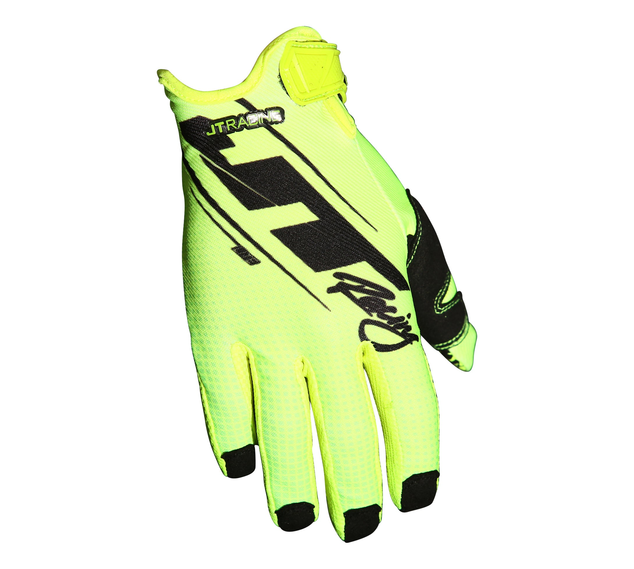 JT Racing USA-Lite16- Slasher Gloves, Neon Yellow