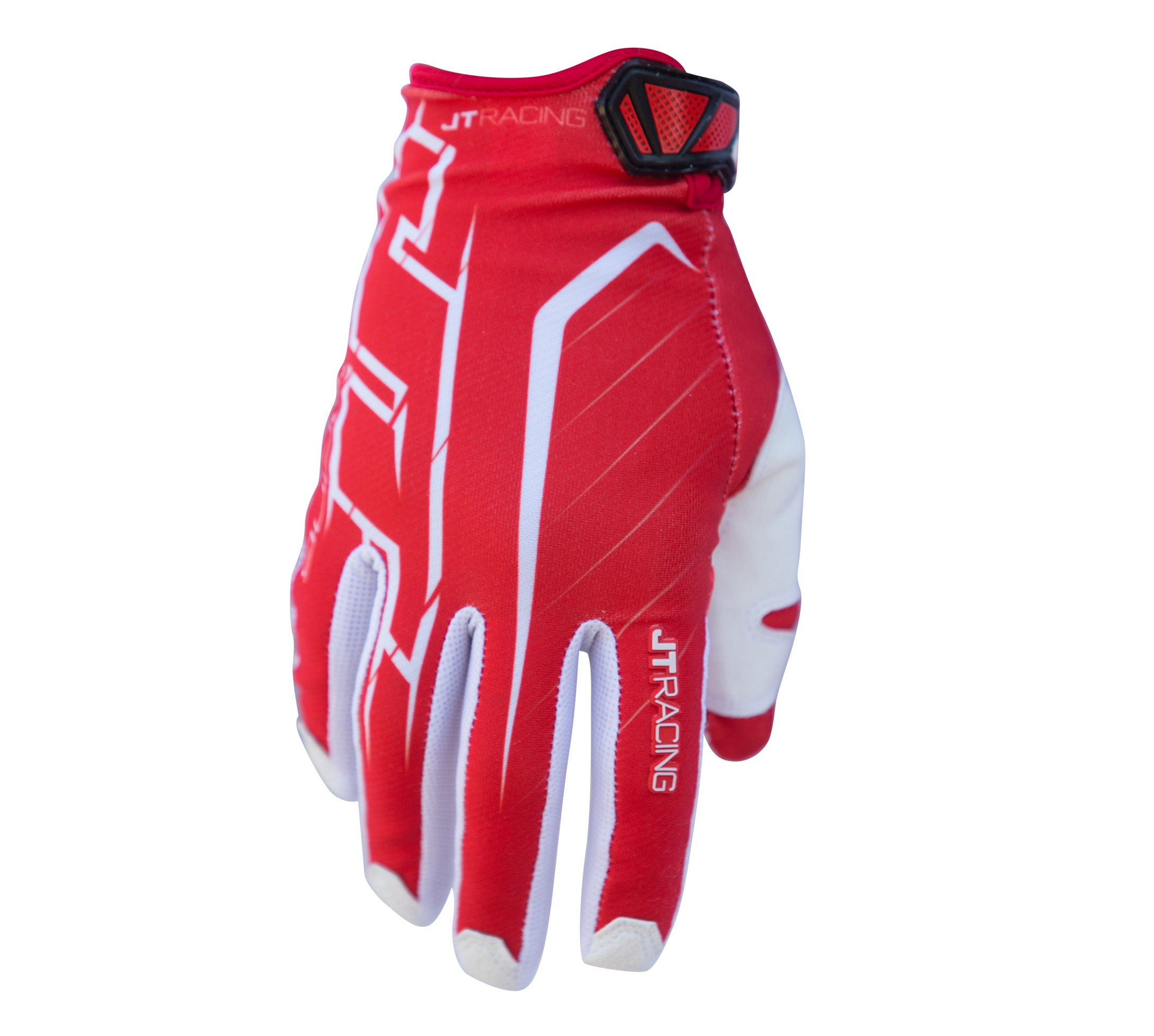 JT Racing USA-Lite Turbo Glove, Red/White