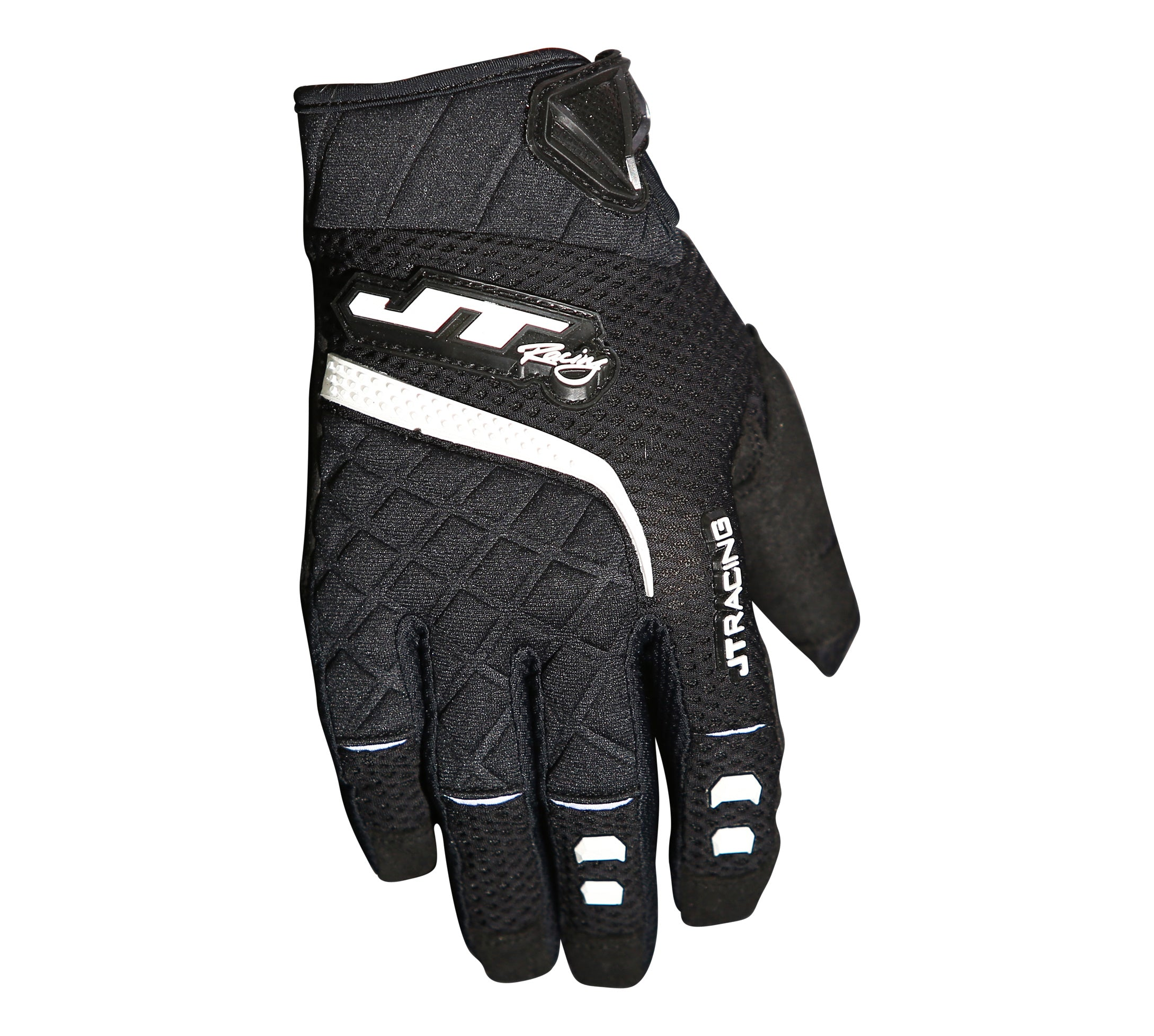 JT Racing USA-Protek Gloves, Black/White
