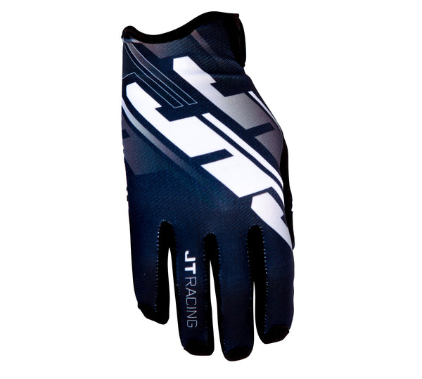 JT Racing USA-Pro-Fit Tracker, Glove, Black/White