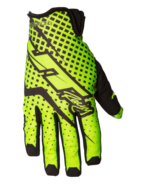 JT Racing USA-Pro-Fit Gloves, Neon Yellow/Black