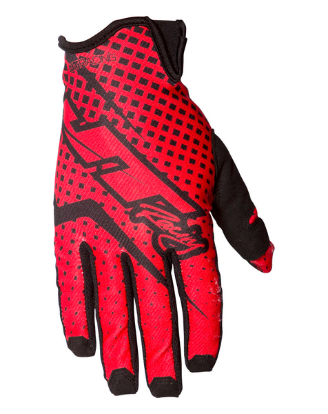JT Racing USA-Pro-Fit Gloves, Red/Black