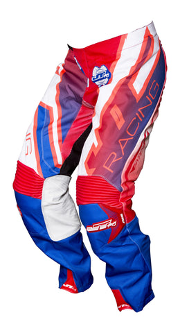 JT RACING USA Hyperlite Revert Pants, Blue/Red/White