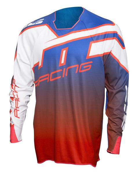 JT Racing USA-2017 Hyperlite Revert Jersey, Blue/Red/White