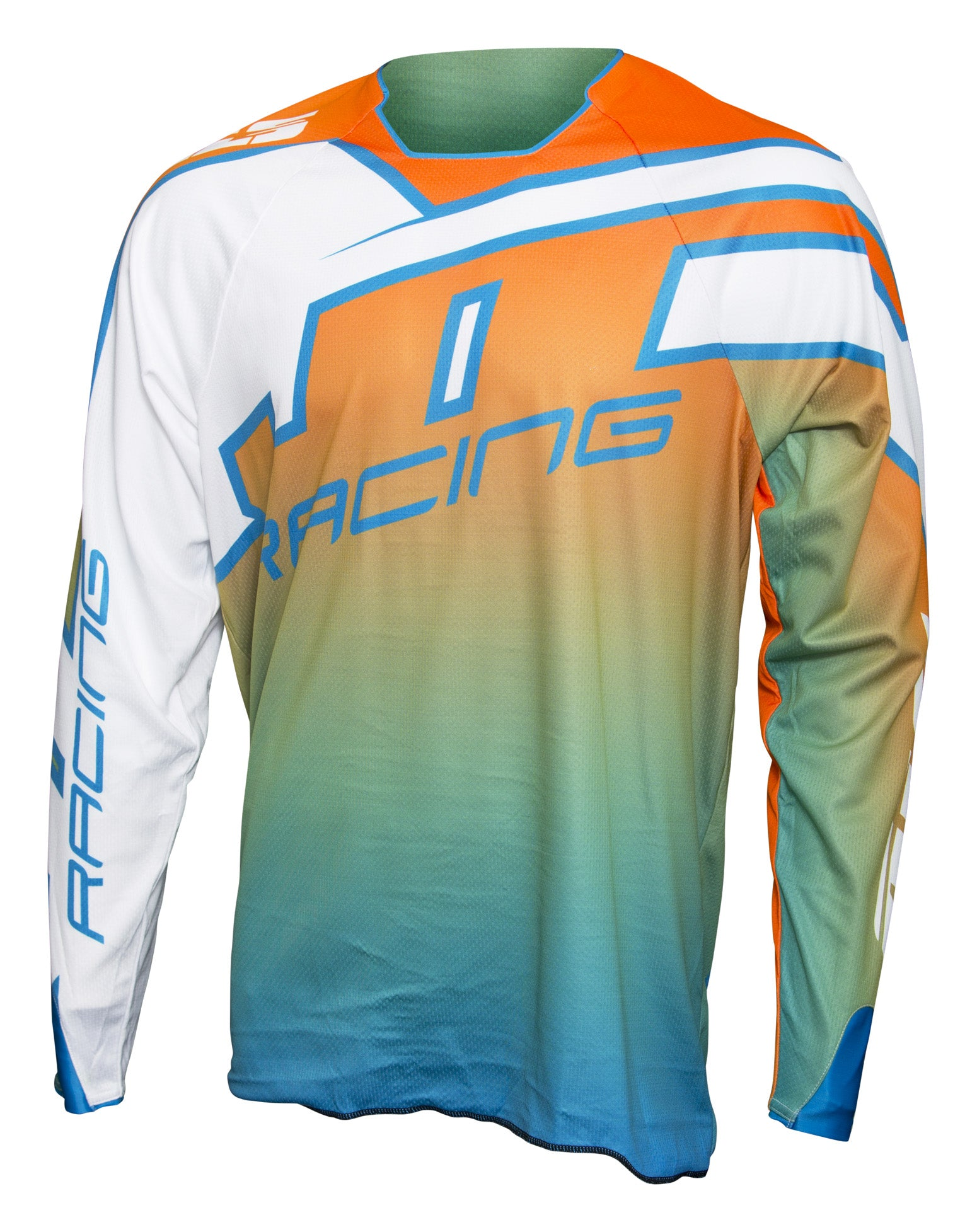 JT Racing USA-2017 Hyperlite Revert Jersey, Cyan/Fluro Orange/White