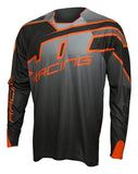 JT Racing USA-2017 Hyperlite Revert Jersey, Grey/Black/Orange