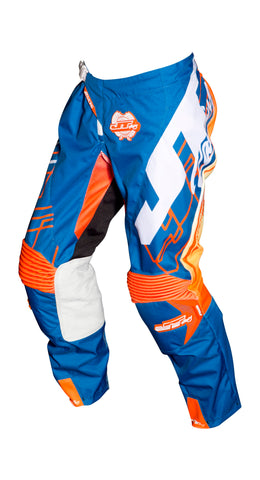JT RACING USA  Hyperlite Shuffle Pants, Blue/Fluro Orange/White