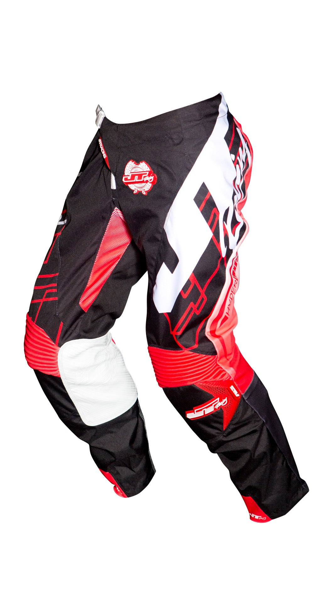 JT RACING USA-2018 Hyperlite Shuffle Pants, Black/Fluro Red/White