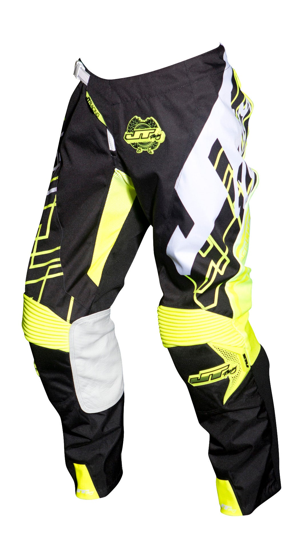 JT RACING USA-2018 Hyperlite Shuffle Pants, Black/Neon Yellow/White