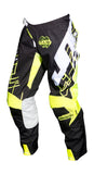 JT RACING USA Hyperlite Shuffle Pants, Black/Neon Yellow/White