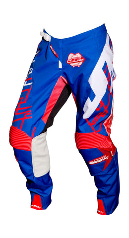JT RACING USA Hyperlite Shuffle Pants, Blue/Red/White
