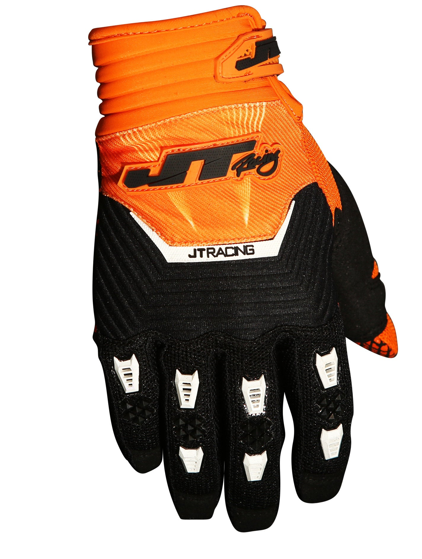 JT Racing Throttle Gloves, Black/Orange