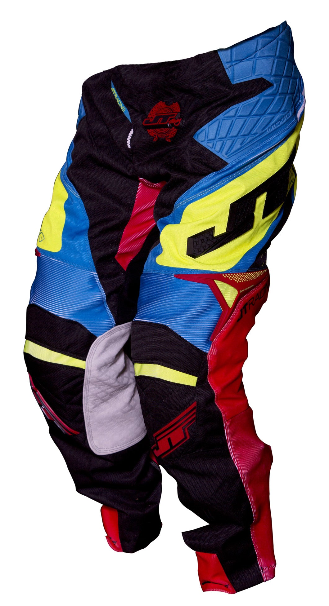 JT RACING USA ProTek Trophy pants, Black/Cyan/Yellow