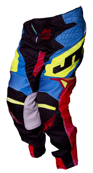 JT RACING USA-2017 ProTek Trophy pants, Black/Cyan/Yellow