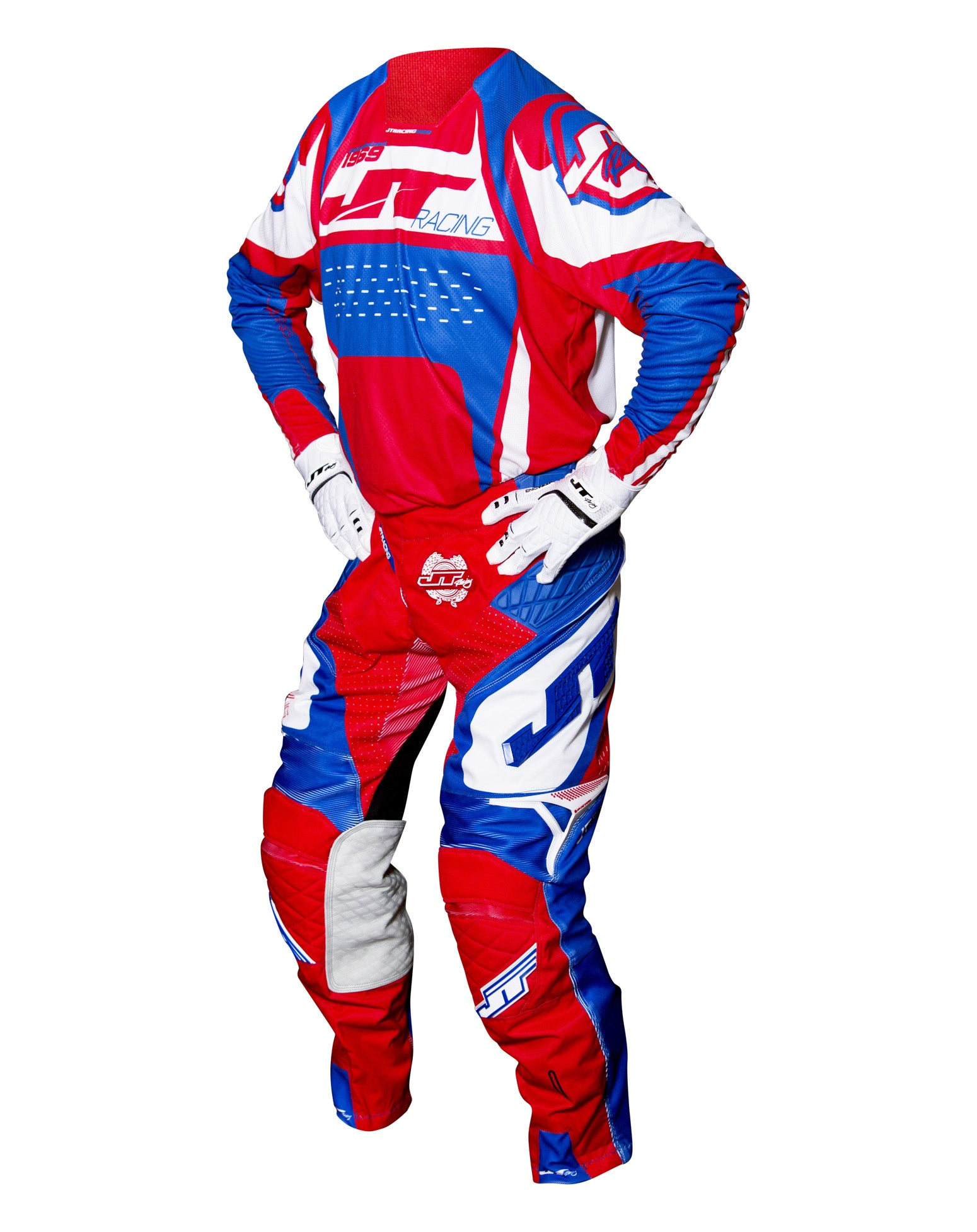 JT RACING USA-2017 ProTek Trophy Pants, Blue/Red/White