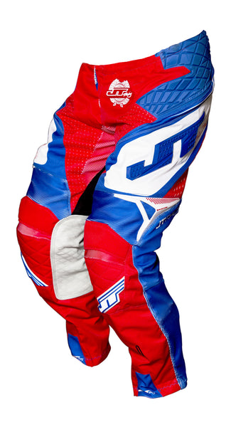JT RACING USA ProTek Trophy Pants, Red/Blue/White