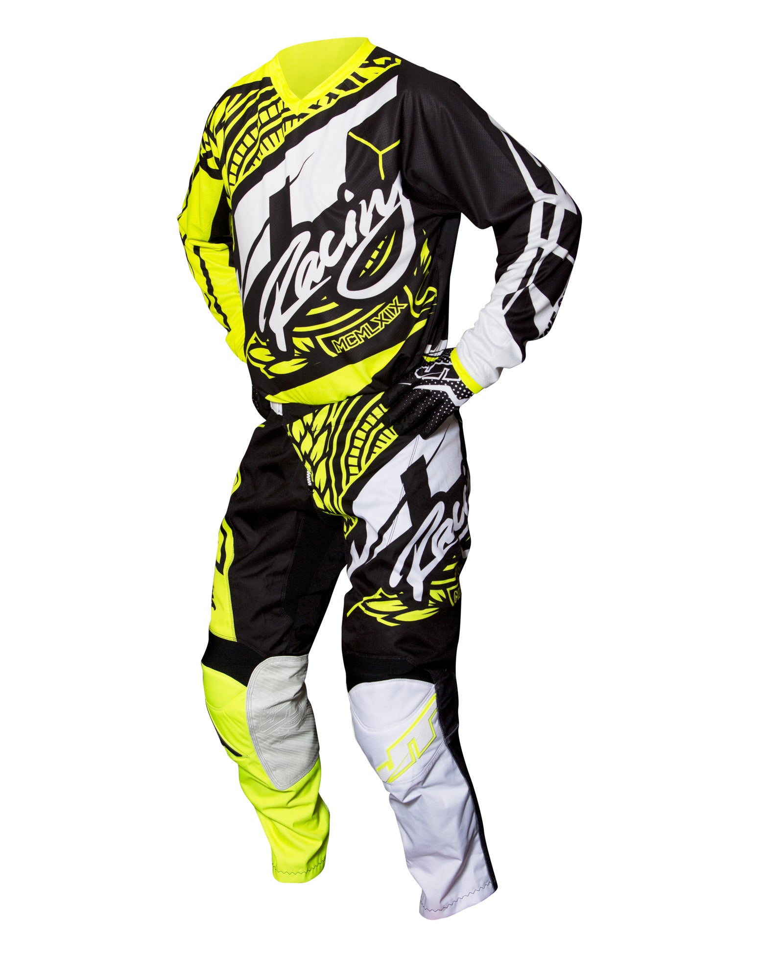JT RACING USA-2017 Flex-Victory Pants, Black/Neon Yellow