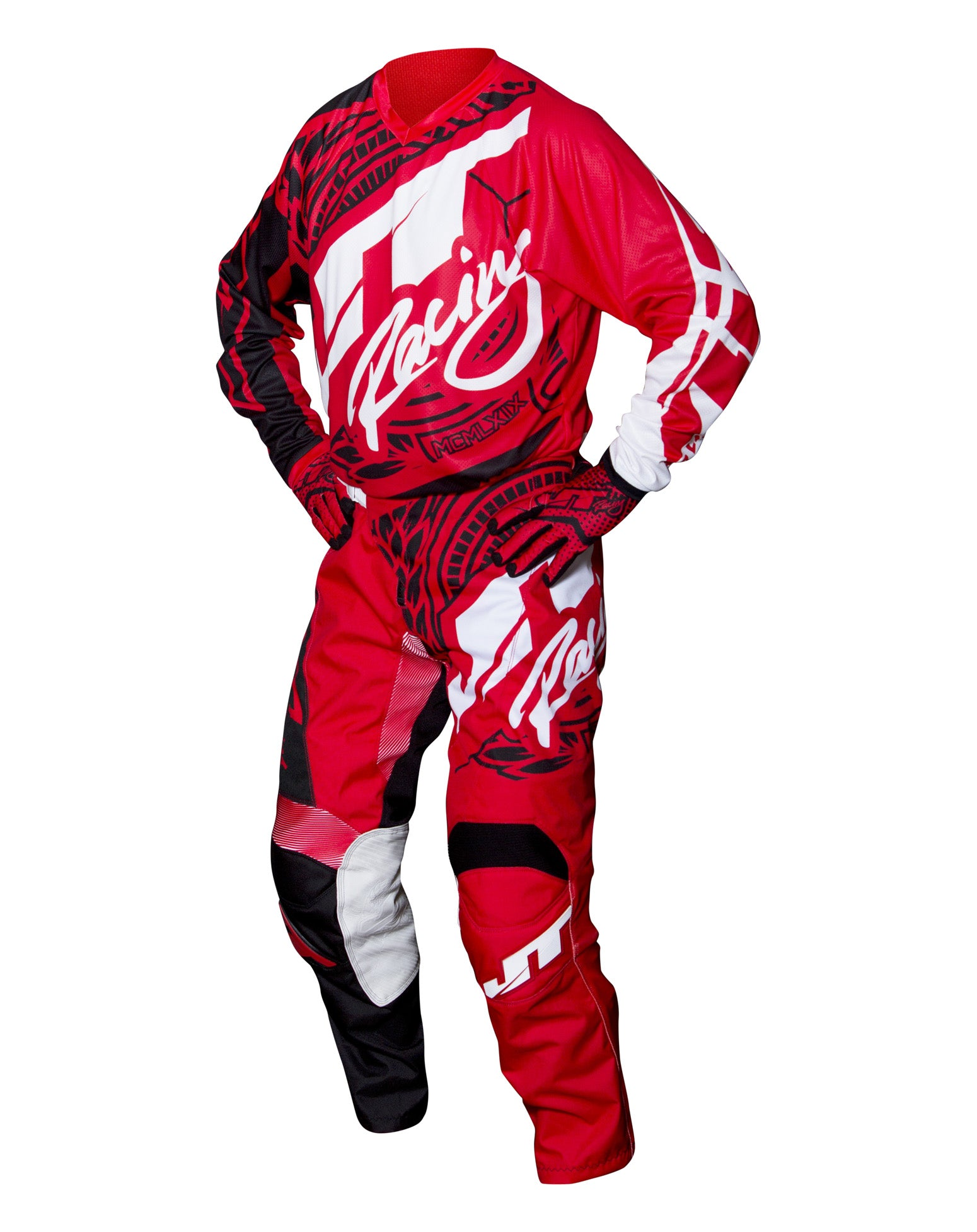 JT RACING USA-2017 Flex-Victory Pants, Red/Black