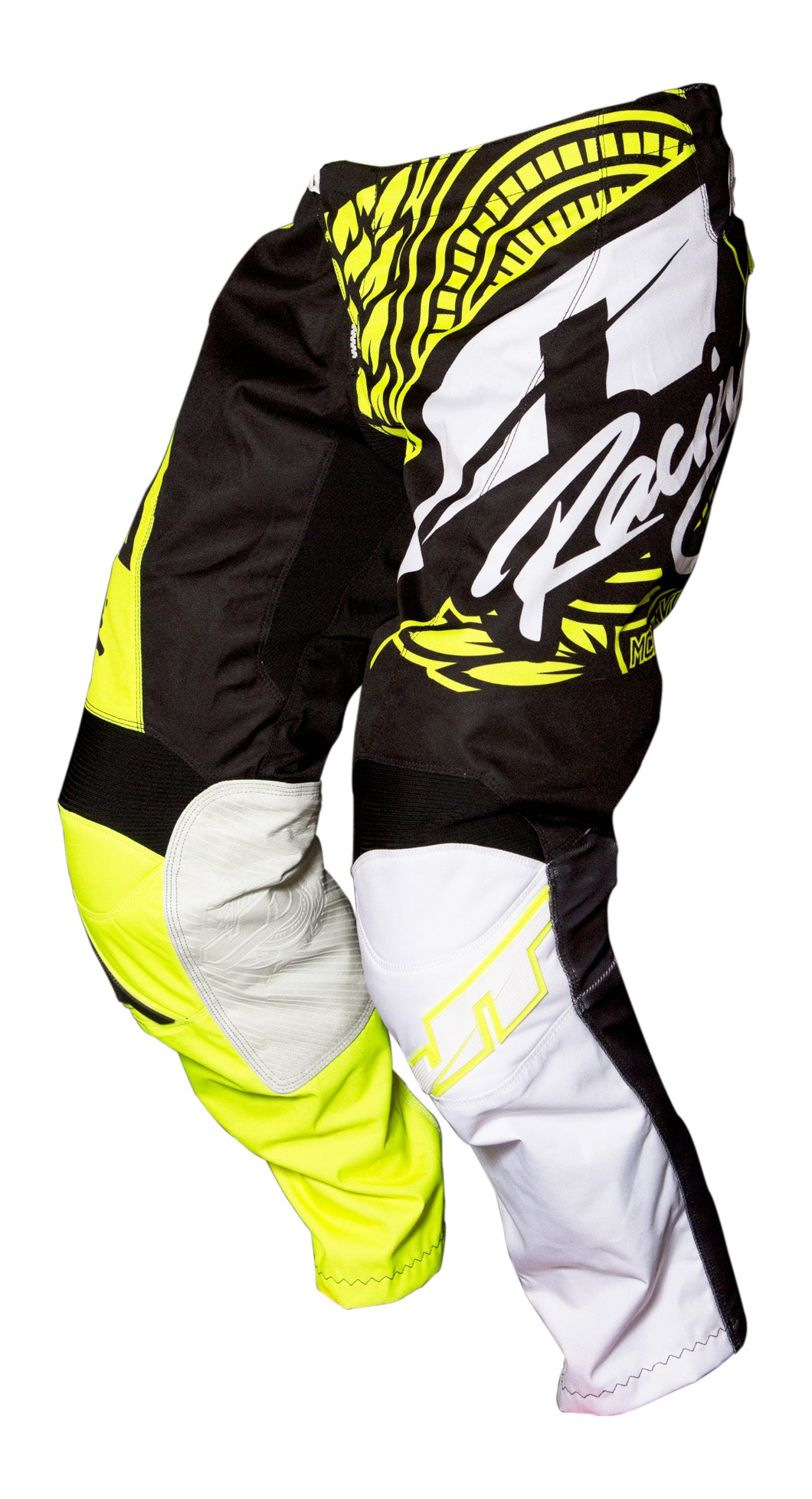 JT RACING USA Flex-Victory Pants, Black/Neon Yellow