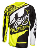 JT RACING USA-2017 Flex-Victory Jersey, Black/Neon Yellow