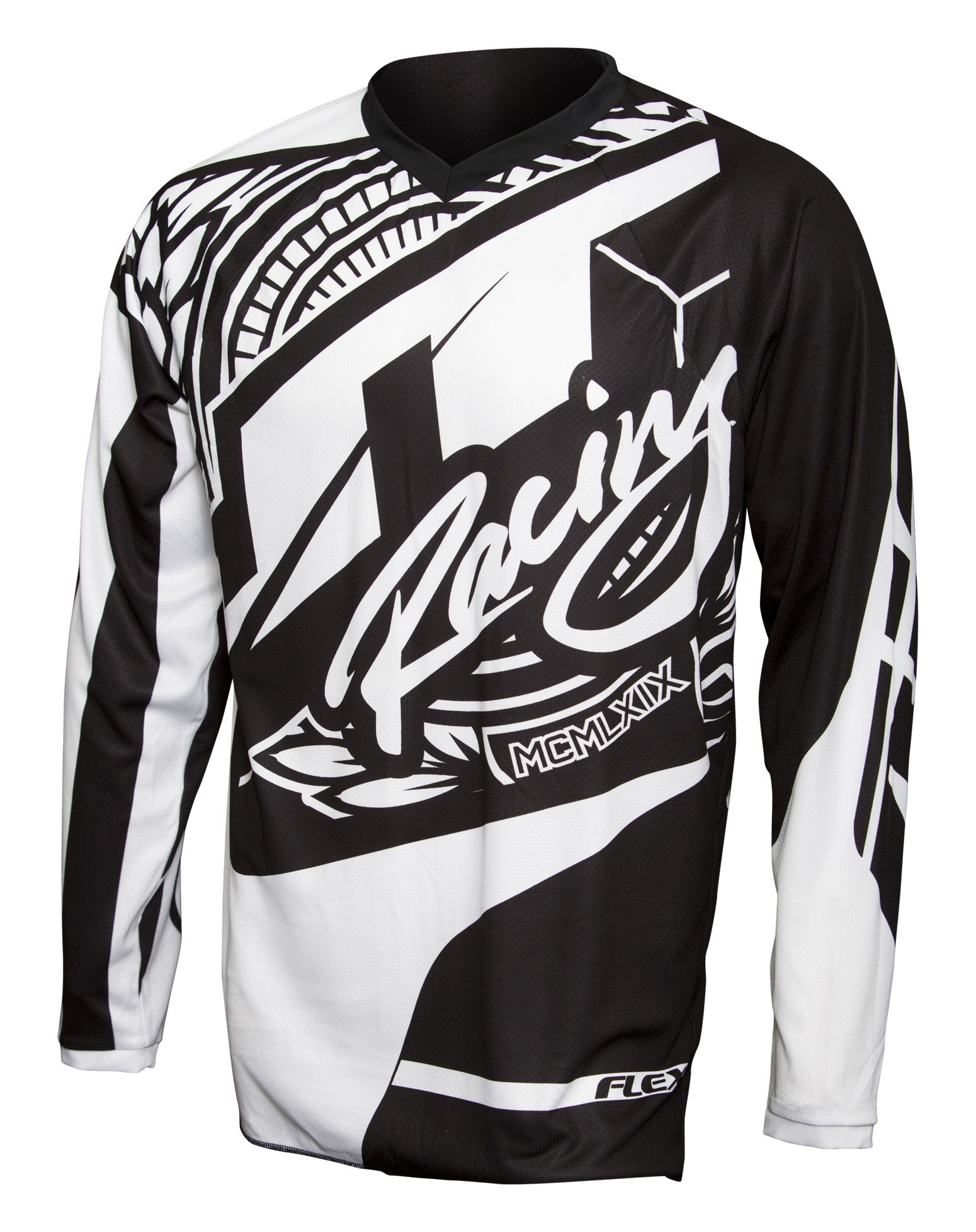 JT RACING USA Flex-Victory Jersey, Black/White