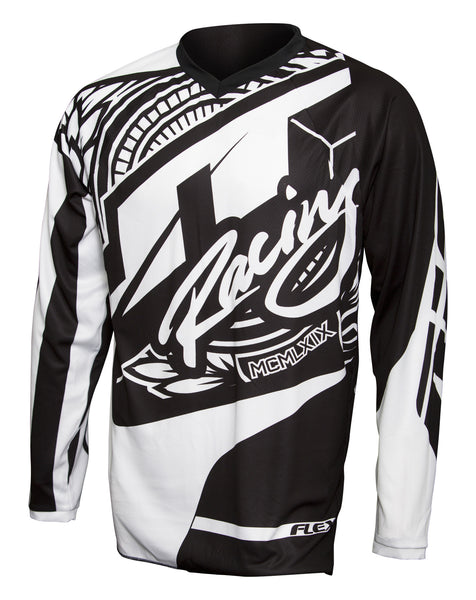 JT RACING USA-2017 Flex-Victory Jersey, Black/White
