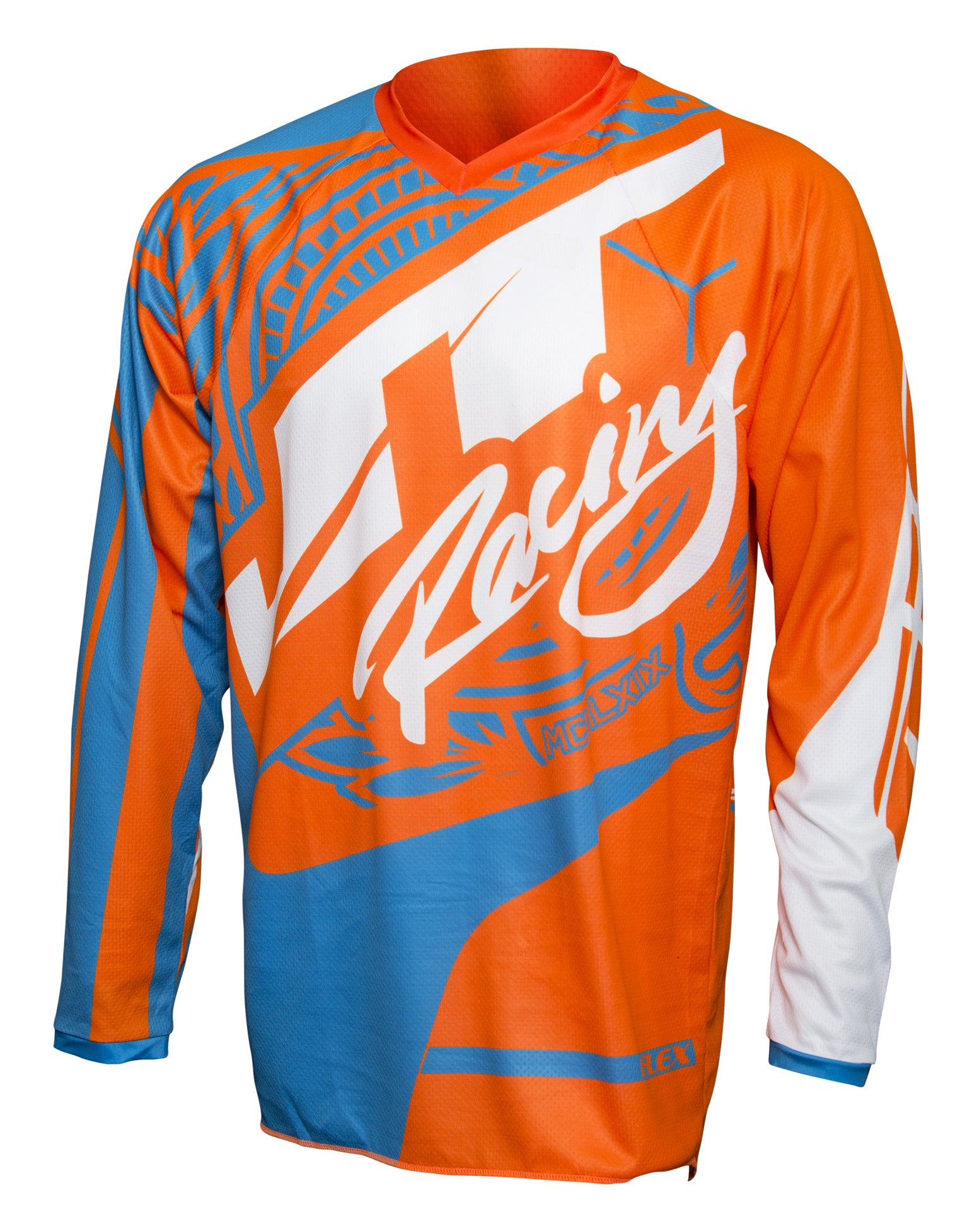 JT RACING USA-2017 Flex-Victory Jersey, Cyan/Orange