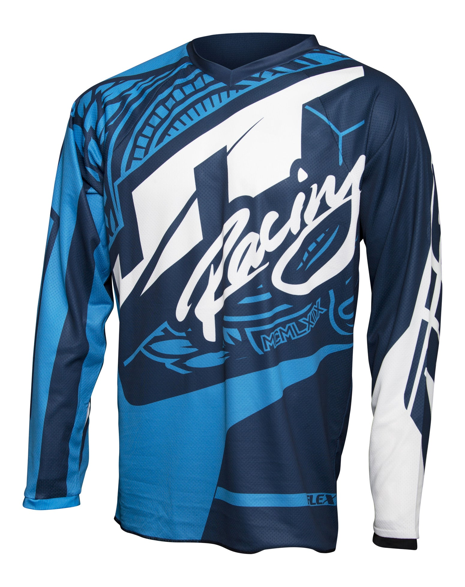 JT RACING USA-2017 Flex-Victory Jersey, Navy/Cyan