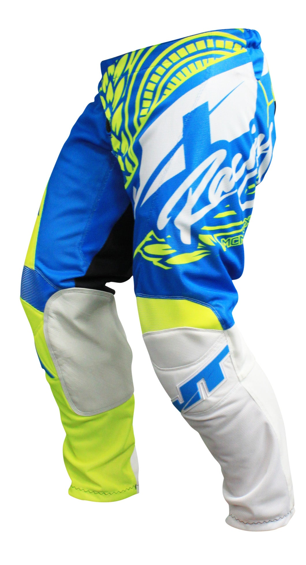 JT RACING USA-2017 Flex-Victory Pants, Neon Yellow/Cyan (Vented)