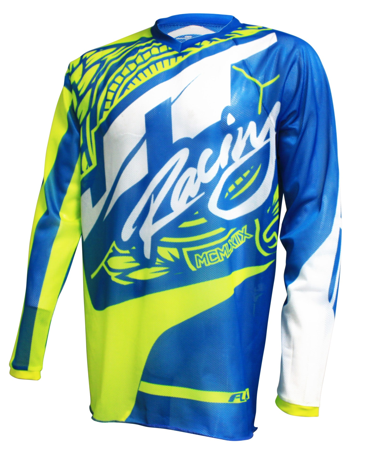 JT RACING USA-2017 Flex-Victory Neon Yellow/Cyan Jersey (Vented)