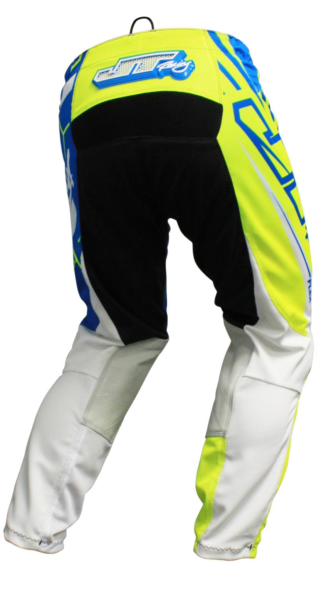 JT RACING USA  Flex-Victory Pants, Neon Yellow/Cyan (Vented)