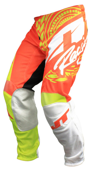 JT RACING USA Flex-Victory Pants, Neon Yellow/Orange (Vented)