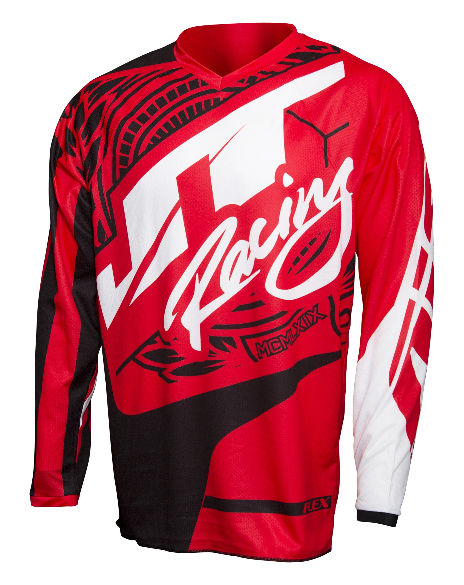 JT RACING USA Flex-Victory Jersey, Red/Black