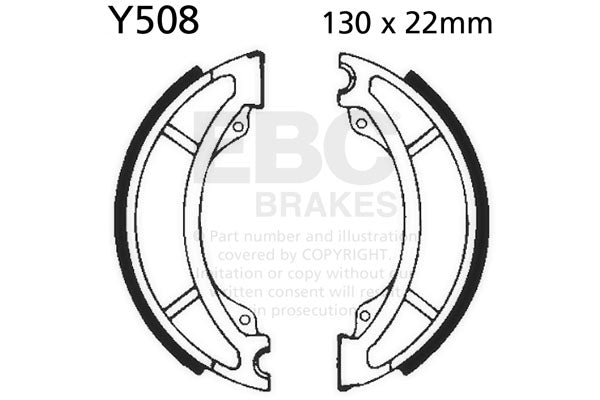 EBC Brake Shoes YZ/IT #Y508