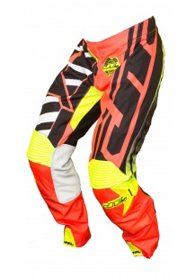 JT RACING USA Hyperlite Breaker Pants, Black/Fluro Red/Yellow